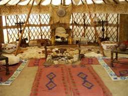 В Ханската шатра е пресъздаден бита на прабългарския владетел
